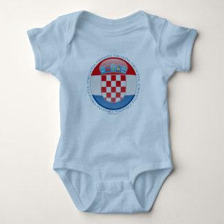 Croatia Bubble Flag Baby Bodysuit