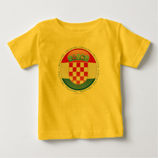 Croatia Bubble Flag Baby T-Shirt