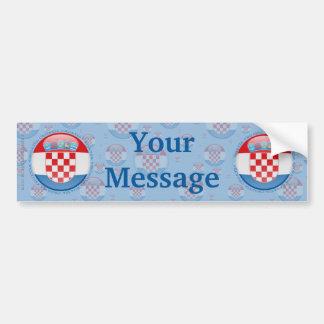 Croatia Bubble Flag Car Bumper Sticker