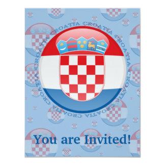 Croatia Bubble Flag Card
