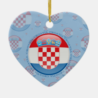 Croatia Bubble Flag Ceramic Ornament