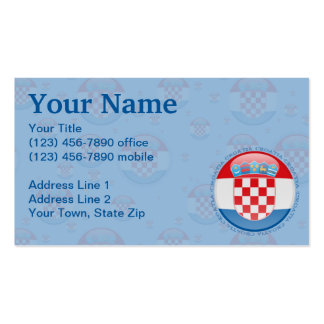 Croatia Bubble Flag Double-Sided Standard Business Cards (Pack Of 100)
