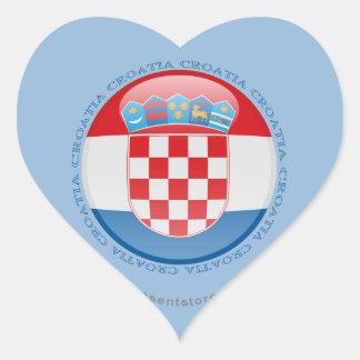 Croatia Bubble Flag Heart Sticker