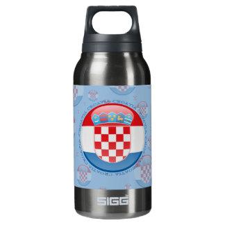 Croatia Bubble Flag Insulated Water Bottle