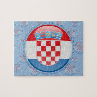 Croatia Bubble Flag Jigsaw Puzzle