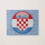 Croatia Bubble Flag Jigsaw Puzzles