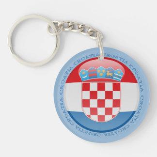 Croatia Bubble Flag Keychain