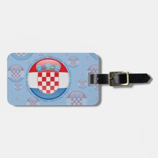 Croatia Bubble Flag Luggage Tag