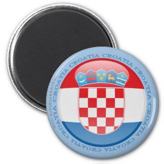 Croatia Bubble Flag Magnet