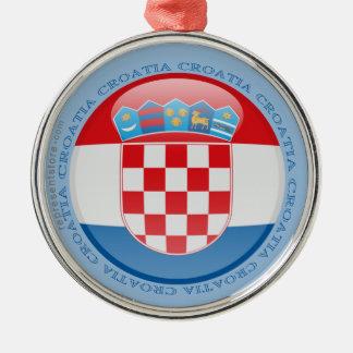 Croatia Bubble Flag Metal Ornament