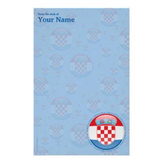 Croatia Bubble Flag Stationery Paper