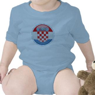 Croatia Bubble Flag Rompers