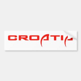 Croatia Car Bumper Sticker