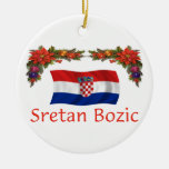 Croatia Christmas Ceramic Ornament