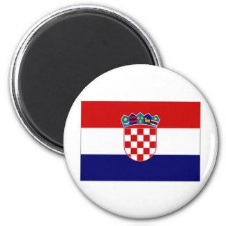 Croatia Civil Ensign 2 Inch Round Magnet