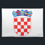"Croatia Coat Of Arms Cloth Placemat<br><div class=""desc"">Croatia Coat Of Arms</div>"
