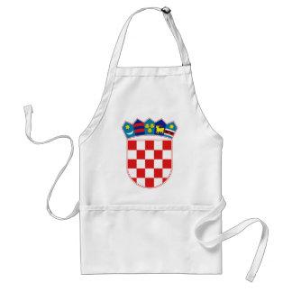 Croatia Coat of arms HR Hrvatska Adult Apron