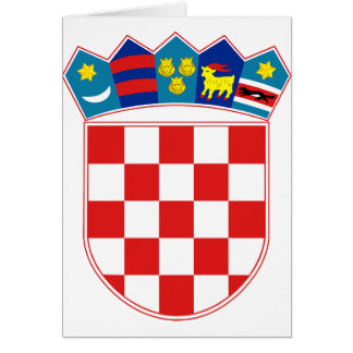 Croatia Coat of arms HR Hrvatska Card