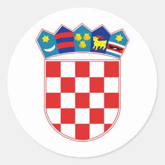 Croatia Coat of arms HR Hrvatska Classic Round Sticker