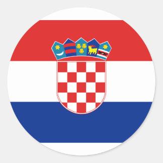 Croatia, Croatia Classic Round Sticker