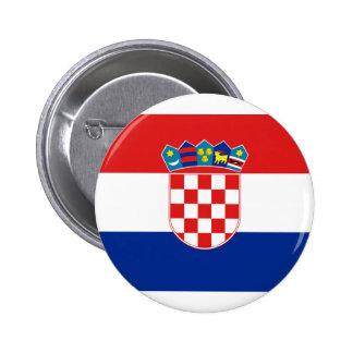 Croatia, Croatia Pinback Button