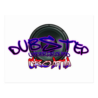 Croatia Croatian DUBSTEP Dub DnB reggae Electro Postcard