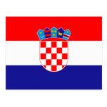 Croatia – Croatian Flag Postcard