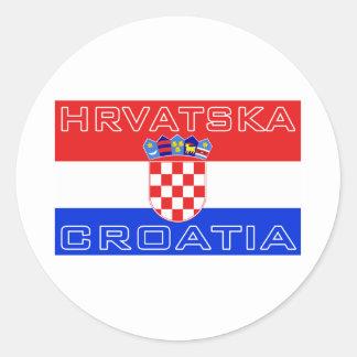 Croatia Croatian Hrvatska Flag Classic Round Sticker