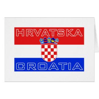Croatia Croatian Hrvatska Flag Greeting Card