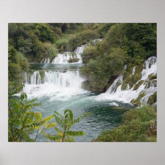 Croatia, Dalmatia, Krka Falls National Park Poster
