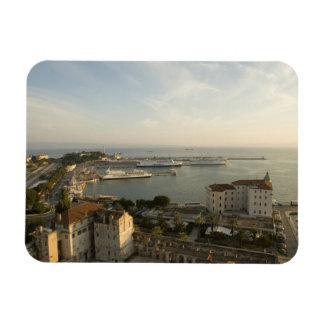 Croatia, Dalmatia, Split. View of Riva Rectangular Photo Magnet