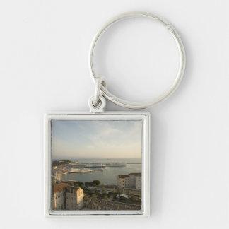 Croatia, Dalmatia, Split. View of Riva Silver-Colored Square Keychain