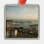 Croatia, Dalmatia, Split. View of Riva Square Metal Christmas Ornament