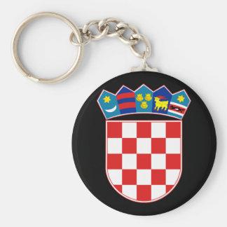 croatia emblem basic round button keychain