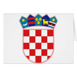 croatia emblem card