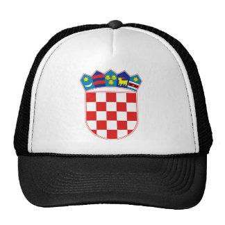 croatia emblem trucker hat