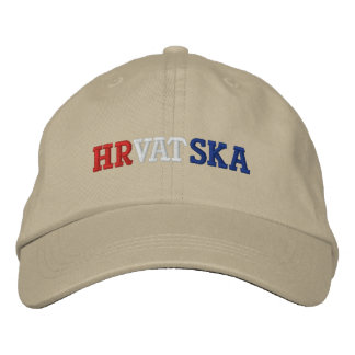 Croatia Embroidered Baseball Hat