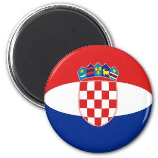 Croatia Fisheye Flag Magnet