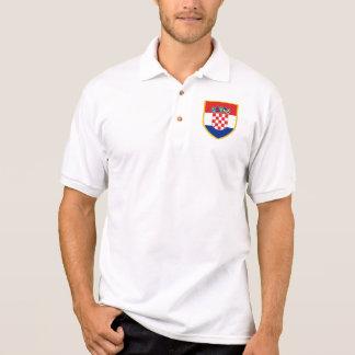 Croatia Flag Arm Polo Shirt