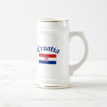 Croatia Flag Beer Stein