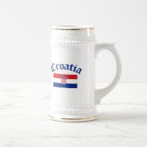 Croatia Flag Beer Stein