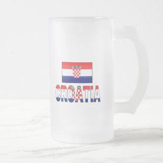 Croatia flag coffee mugs