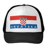 croatia flag country hrvatska text name trucker hats