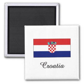 Croatia Flag Design 2 Inch Square Magnet