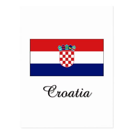 Croatia Flag Design Postcard