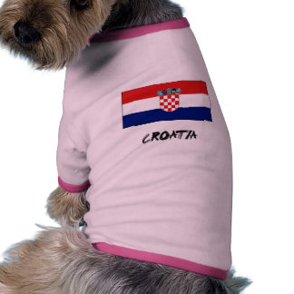 Croatia Flag Doggie Tee Shirt