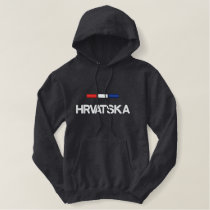 Croatia Flag Embroidered Hoodie