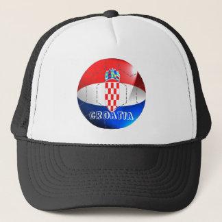 Croatia flag football soccer hat