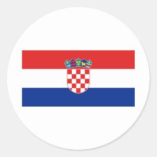 Croatia Flag HR Hrvatska Classic Round Sticker