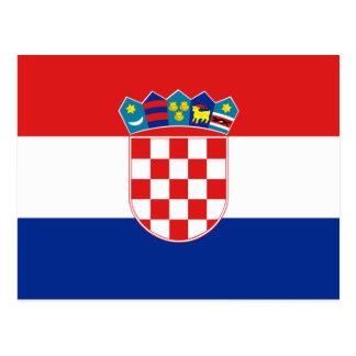 Croatia Flag HR Hrvatska Postcard
